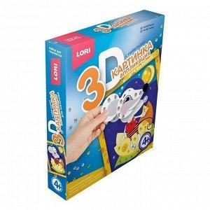 """Набор ДТ Картинка 3D.Аппликация для малышей с пайетками """"Мышка""""  Пм-006 Lori"""