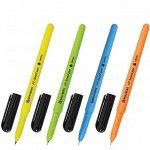 Ручка шарик синий на масляной основе 0.7мм BRAUBERG Fine Neon 142948