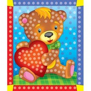 Набор ДТ Алмазная мозаика Мишка с сердечком 10*15см AC1037