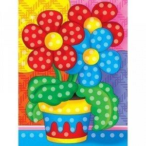 Набор ДТ Алмазная мозаика Цветы в горшочке 10*15см с подрамником AS1015