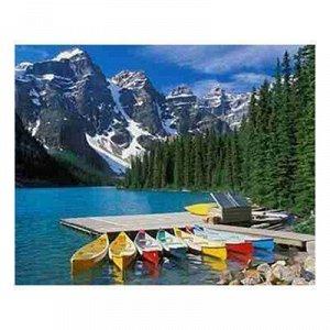 Набор ДТ Алмазная мозаика Озеро в горах 30*40см ST768