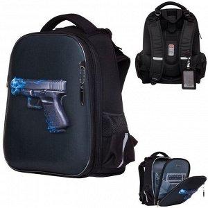 Рюкзак ERGONOMIC Classic-Fire gun 37х29х17 см 45041 Hatber