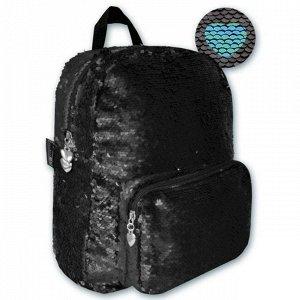 Рюкзак черный 30х25х8см 46432