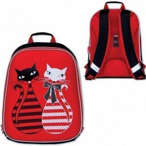 Рюкзак эргоном Коты красный+черный 46649