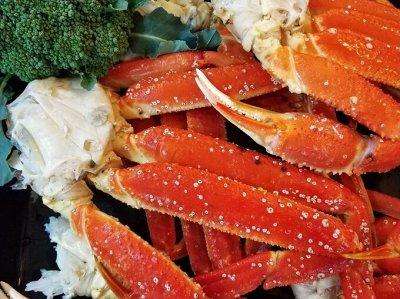 Морепродукты:крабы,креветки,гребешок,чука,мидии. — краб — Свежие и замороженные
