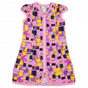 Халат для девочки Абстракция- фиолетовый