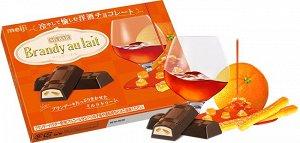 MEIJI Brandy Au Lait - насыщенный шоколад со сливками и апельсином в бренди