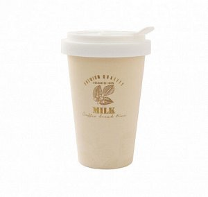 "Стакан ""Milk Coffee"" 380мл с силик.крышкой JYD133-7624-2/3 ВЭД"