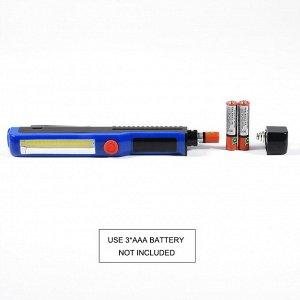 Фонарик Тип лампы: COB Мощность продукта: 50 Вт Цвет света: белый светильник Световой режим: высокий/cob низкий Срок службы батареи: 2-4 часа Материал: алюминиевый сплав + ABS Вес изделия: 55 г