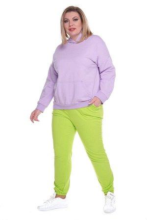 Брюки-4288 Модель брюк: Спортивные; Материал: Трикотаж;   Фасон: Брюки; Параметры модели: Рост 173 см, Размер 54 Брюки спортивные трикотажные салатовые Универсальные и невероятно комфортные брюки из м