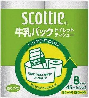 """Туалетная бумага из переработанной целлюлозы Crecia """"Scottie"""" с легким ароматом, двухслойная 8 рул (45м)"""