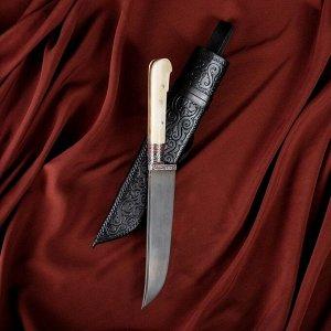 Нож Пчак Шархон малый, рукоять из кости (ёрма), гарда с гравировкой 3106891