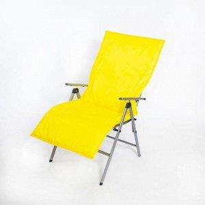 Подушка-матрас водоотталкивающ. 140х60х3,5см, жёлтый