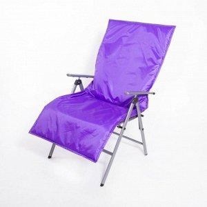 Подушка-матрас водоотталкивающ. 140х60х3,5 см, фиолетовый