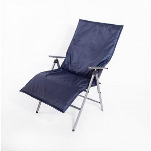 Подушка-матрас водоотталкивающ. 140х60х3,5 см, чёрно-синий