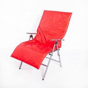 Подушка-матрас водоотталкивающ., цвет красный, 140х60х3,5см,