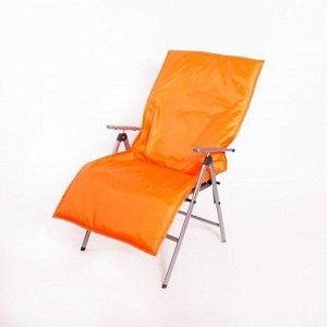 Подушка-матрас водоотталкивающ., оранжевый, 140х60х3,5 см.