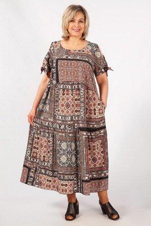 Платье Пэчворк хаки, пэчворк бордовый, пэчворк бирюзовый, Летнее женское платье в стиле «бохо», выполнено из легкого, практически невесомого шифона-стрейч. Покрой платья свободный. Два яруса воланов с