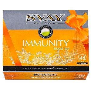 Чай SVAY 'IMMUNITY' набор 8 видов 48 пирамидок