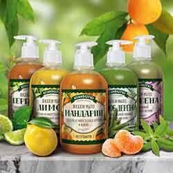 Крымская натуральная косметика — Жидкое мыло 460г — Гели и мыло