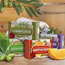 Крымская натуральная косметика — Мыло натуральное ручной работы «Прованс» 82г — Гели и мыло