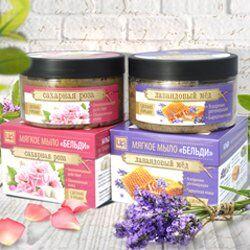 Крымская натуральная косметика — Мягкое натуральное мыло бельди 250г — Гели и мыло