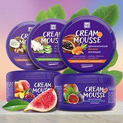 Крымская натуральная косметика — Натуральные питательные кремы «Cream Mousse» 220г — Кремы для тела, рук и ног