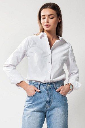 Базовая рубашка из фактурного хлопка
