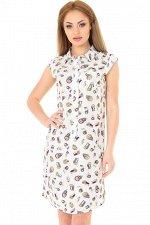 Платье рубашка 2368-1.84 белого цвета