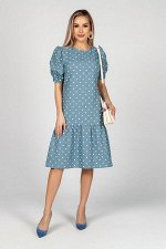 Платье Джулиет №1.Цвет:серо-голубой