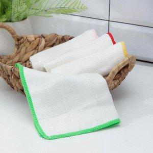 Салфетка для уборки из бамбука Доляна «Люкс», цвет МИКС