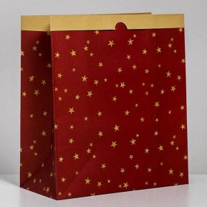 Пакет крафтовый «Загадай желание», 32 х 36 х 16 см