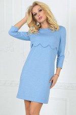 Платье 2488.47 серо-голубое