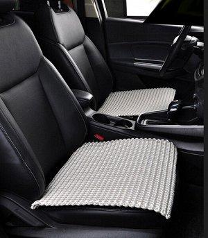 Накидка на сиденье без спинки текстильная, плетённая 49 х 49 см - VA178