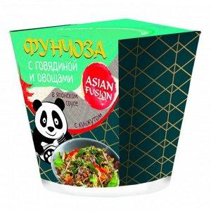 Фунчоза ASIAN FUSION с говядиной и овощами в японском соусе с кунжутом 68 гр