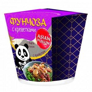 Фунчоза ASIAN FUSION с креветками и соусом Унаги с кунжутом 67 гр