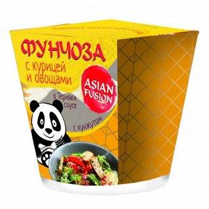 Фунчоза ASIAN FUSION с курицей и овощами в соусе терияки с кунжутом 67 гр