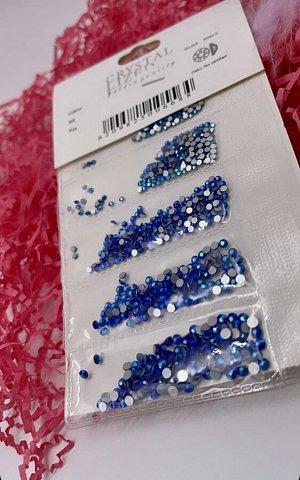 Камни в полоску синиии  ( по размерам) SS1-Ss6 1440 шт .