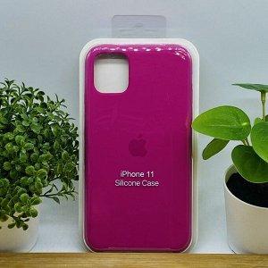 Силиконовый чехол для IPHONE 11 цвет №54 (все наклейки,лого вырезан, микрофибра,не пачкается,улучшенное качество)