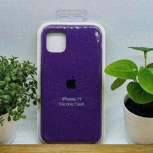 Силиконовый чехол для IPHONE 11 цвет № 60 (все наклейки,лого вырезан, микрофибра,не пачкается,улучшенное качество)