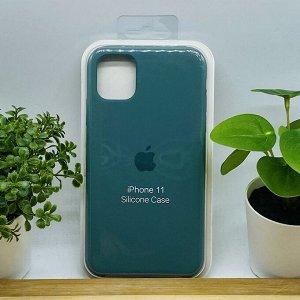 Силиконовый чехол для IPHONE 11 цвет №35 (все наклейки,лого вырезан, микрофибра,не пачкается,улучшенное качество)