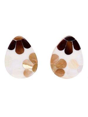 20119880 Серьги Mindora невесомые серьги с геометрическими подвесками выполнены из дерева и перламутра  - Бижутерия Selena