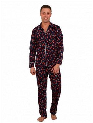 Пижама мужская ПМ-05 Чили (кулирка)