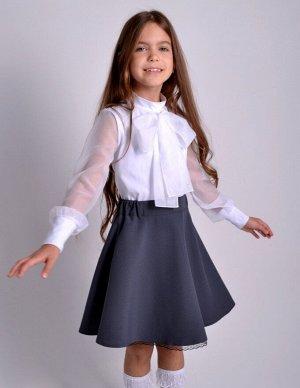 Школьная юбка Конфетти серая