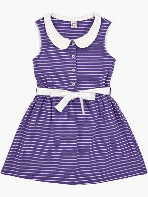 Платье в полоску (92-116см) UD 1937 сирень