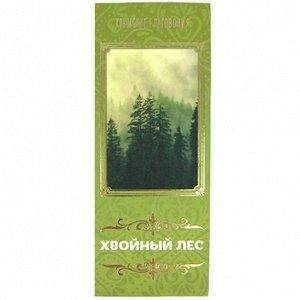 """Натуральные благовония """"Хвойный лес"""" 10 палочек d.5мм L.10см с подставкой"""