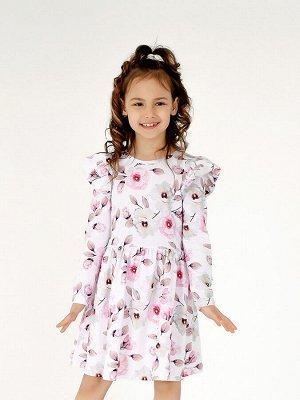 Платье Фея белые цветы