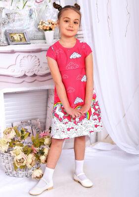 """Платье Фея Ткань: пенье Состав: 100% хлопок Рост модели: 122см Размер: 30  Чудесное яркое платье """"Фея"""" не оставит равнодушной ни одну маленькую модницу. Мягкая ткань пенье, из которой изготовлено"""