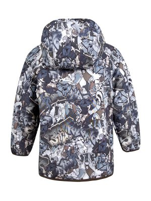 Куртка Графити серый/хаки