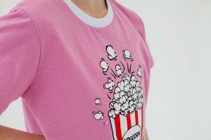 Футболка Количество в упаковке: 1; Артикул: MOD-1483; Цвет: Розовый; Ткань: Кулирка; Состав: 95% хлопок, 5% полиэстер; Вес- от: 206 г.; Цвет: Розовый Скачать таблицу размеров